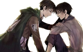 Picture anime, art, guy, guys, two, Shingeki no Kyojin, Attack of the titans, Levi