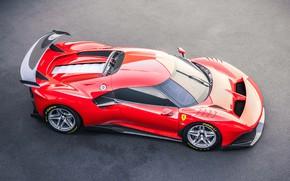 Picture machine, asphalt, Ferrari, sports car, P80/C