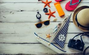 Picture beach, summer, Sea, glasses, slates
