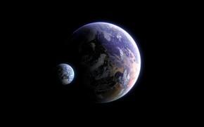 Picture Planet, Space, Fantasy, Space, Satellite, Planet, Science Fiction, by Antonio Echeverria, Antonio Echeverria, Exomoon Planet