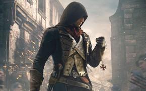 Picture sign, Paris, Windows, home, hood, Paris, killer, Ubisoft, pistol, Arno, Arno, Assassin's Creed: Unity