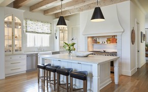 Picture interior, kitchen, dining room, French country home, by Tuscaloosa