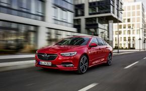 Picture red, street, Insignia, Opel, Insignia Grand Sport