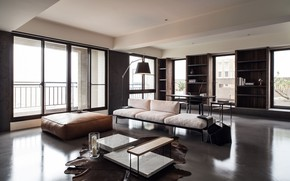 Picture design, interior, Taiwan, Taipei, elegant concrete home