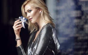 Picture look, girl, pose, gift, makeup, Karlie Kloss