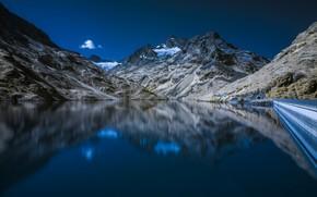 Wallpaper mountains, lake, Austria, Galtur