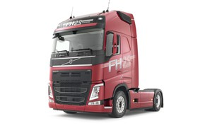 Picture Volvo, white background, tractor, FH 500, Globetrotter XL
