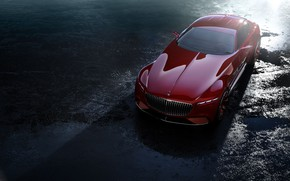 Picture asphalt, transport, moisture, car, Maybach Vision 6