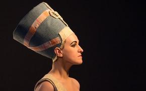 Picture girl, background, black, picture, silhouette, Egypt, neferititi