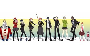 Picture background, the game, group, anime, art, characters, Persona 4, Person 4