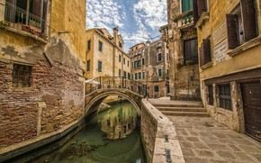 Picture home, Italy, Venice, channel, the bridge, Ponte del Megio