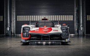Picture Toyota, front view, WEC, 4WD, 2021, Gazoo Racing, GR010 Hybrid, 3.5 л., V6 twin turbo