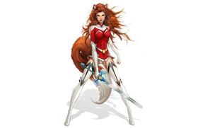 Picture girl, sword, form, comics