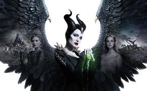 Picture Angelina Jolie, Angelina Jolie, Michelle Pfeiffer, Maleficent, Maleficent, Elle Fanning, El Fanning, Michelle Pfeiffer, Maleficent: …