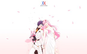 Picture petals, pair, two, Darling In The Frankxx, Cute in France