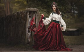Picture girl, pose, style, outfit, Marina Zaton