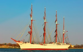 Picture ship, sailing, Sedov