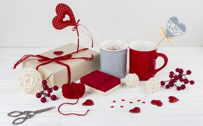 Picture Cup, gifts, hearts, decor