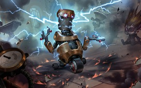 Picture the game, robots, Legends of Runeterra