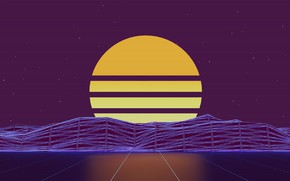 Picture The sun, Music, Star, Background, Neon, 80's, Synth, Retrowave, Synthwave, New Retro Wave, Futuresynth, Sintav, …