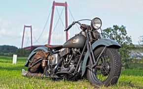 Picture Harley Davidson, Vintage, Harley-Davidson, Retro, Custom, Motorbike, Thunderbike, By Thunderbike, THE KNUCKLEHEAD