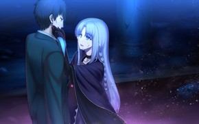 Picture girl, male, Fate stay night, Fate / Stay Night, castor