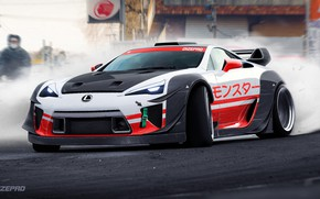 Picture Auto, Lexus, Machine, Rendering, LFA, Lexus LFA, Dmitry Strukov, Dizepro, by Dmitry Strukov, Dize_pro, Drift …