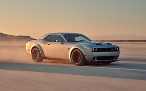 Picture speed, Dodge, Challenger, Hellcat, SRT, Widebody, 2019, Redeye