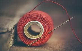 Picture macro, thread, needle