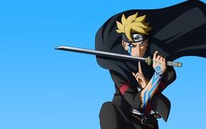 Picture sword, Naruto, karma, tatto, Boruto