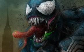 Picture language, art, Venom, Venom, symbiote, green slime