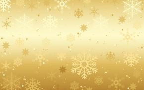 Picture winter, snow, snowflakes, background, golden, gold, Christmas, winter, background, snow, snowflakes