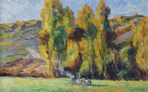 Picture picture, 1908, Maximilien Luce, Maximilien Luce, Landscape near the bessy-Sur-Cure