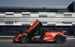 Picture orange, McLaren, door, side view, 2020, 765LT