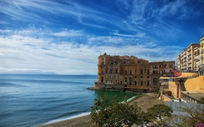 Picture the sky, coast, Italy, Naples, The Palace Woman-Anna