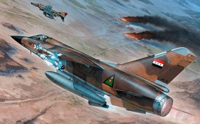 Picture Dassault Mirage F1, multi-role fighter for the air force of Iraq, the light multirole fighter, …