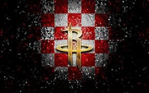 Picture wallpaper, sport, logo, basketball, NBA, Houston Rockets, glitter, checkered