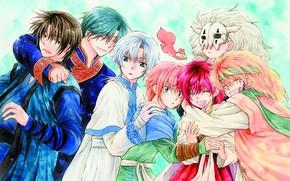 Picture girl, dragons, protein, guys, friends, Dawn Yona, Akatsuki no Yona, Jon, Yona of the Dawn