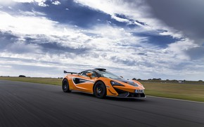 Picture coupe, McLaren, in motion, 2020, V8 twin-turbo, 620R, 620 HP, 3.8 L.