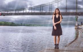 Picture girl, dress, legs, promenade, Artem Cupcini
