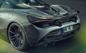 Picture McLaren, supercar, rear view, Spider, Novitec, 720S, 2019
