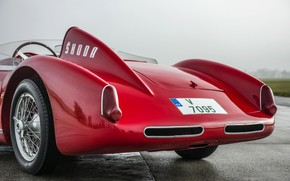 Picture prototype, 1957, the rear part, Spider, Skoda, 1958, Skoda, Type 968, 1100 OHC