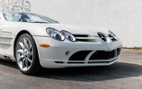 Picture Roadster, Bumper, The hood, Lights, Logo, 2009, The front, Mercedes-Benz SLR McLaren