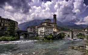 Picture river, building, Spain