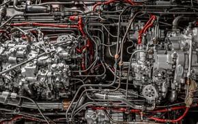 Picture engine, tube, hoses, unit, carb