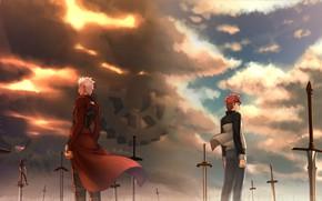 Picture guys, swords, Archer, Shirou Emiya, Fate stay night, Fate / Stay Night