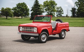 Picture red, Roadster, Ford, 1966, Bronco, bestvery