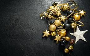Picture winter, background, holiday, toys, Star, Christmas, New year, Texture, decor, The celebration, Valeria Maksakova