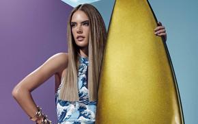 Picture look, girl, pose, model, dress, Alessandra Ambrosio