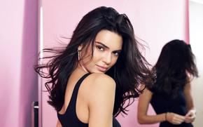 Picture look, girl, reflection, model, hair, mirror, brunette, beauty, Kendall Jenner